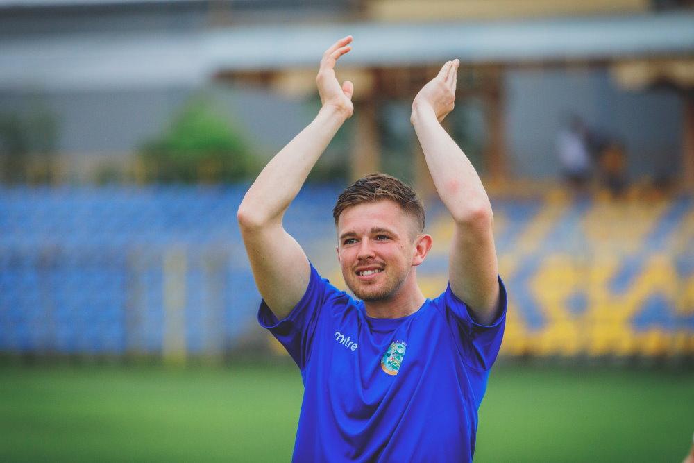 Jon Williams Celebrates a win in Budapest